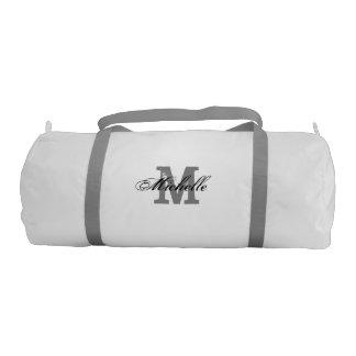 Personalized vintage monogram name duffle gym bags