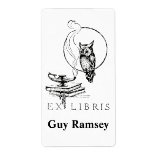 Personalized Vintage Owl Bookplate