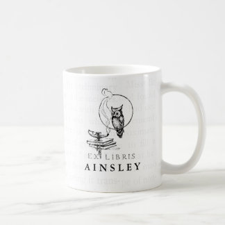 Personalized Vintage Owl Collage Coffee Mug