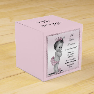 Personalized Vintage Princess Baby Thank You Favor Box