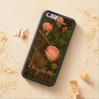 Personalized Vintage Rosebuds Wooden Phone Case Cherry iPhone 6 Bumper