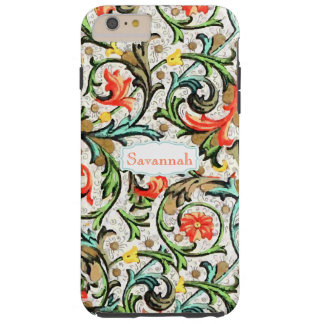 Personalized Vintage Swirly Damask iphone 5 Tough iPhone 6 Plus Case