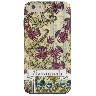 Personalized Vintage Thistle Flower Pattern iphone Tough iPhone 6 Plus Case