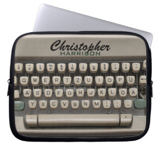 Personalized Vintage Typewriter Laptop Sleeve