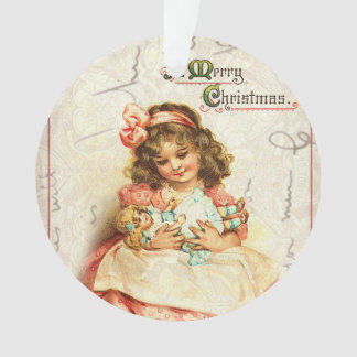 Personalized Vintage Victorian Christmas Ornament