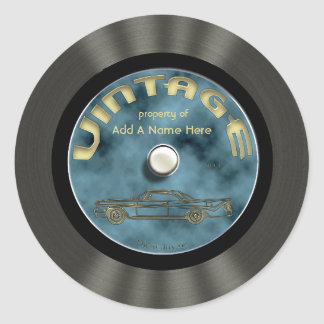 Personalized Vintage Vinyl Record Stickers