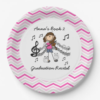 Personalized Violin Player Paper Plates
