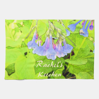 Personalized Virginia Blue Bells Flower Kitchen Towel
