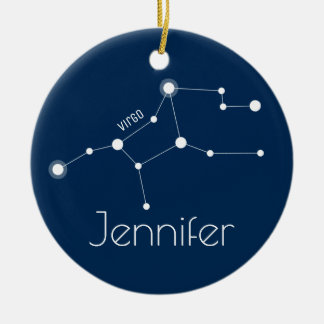 Personalized Virgo Constellation Ornament