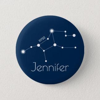 Personalized Virgo Zodiac Constellation 2 Inch Round Button