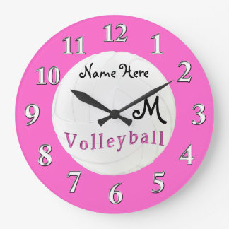 Personalized Volleyball Clock NAME and MONOGRAM