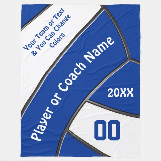 Personalized Volleyball Gifts for Players or Coach Fleece Blanket