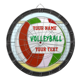 Personalized Volleyball Name and Text Dartboards