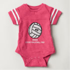 Personalized Volleyball Player Number, Name, Team Baby Bodysuit
