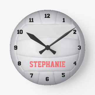 Personalized Volleyball Wall Clock