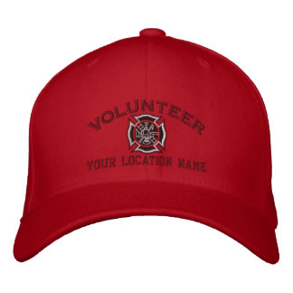 Personalized Volunteer Firefighter Embroidery Embroidered Hats