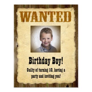 Personalized Wanted Poster, Birthday Bandit Card
