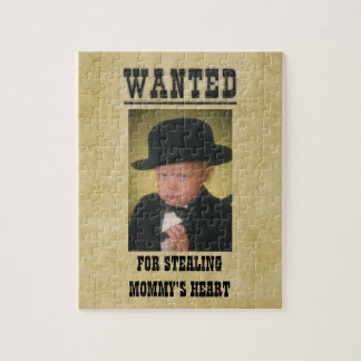 Personalized Wanted Poster Jigsaw Puzzle