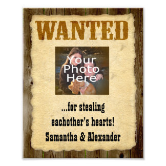 Personalized Wanted Poster, Old West Vintage Photo