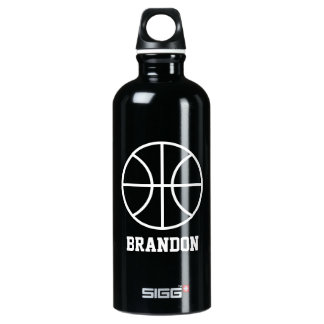 Personalized water bottle for basketball player