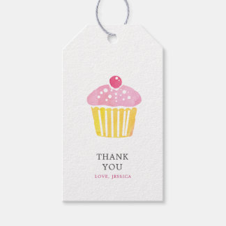 Personalized Watercolor Cupcake Thank You Gift Tag