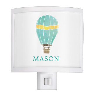 Personalized Watercolor Hot Air Balloon Night Lite