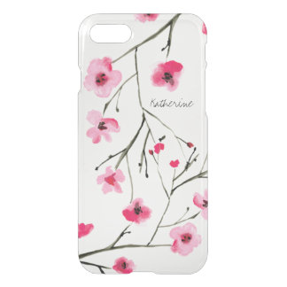 Personalized, Watercolor Japanese Cherry Blossom, iPhone 8/7 Case