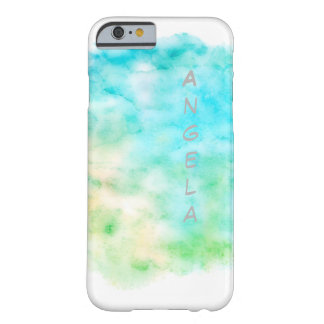 personalized watercolor painting design in aqua barely there iPhone 6 case