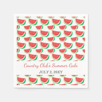 Personalized Watermelon Pattern Summer Party Disposable Napkin