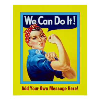 Personalized ~ We Can Do It! ~ Vintage Poster