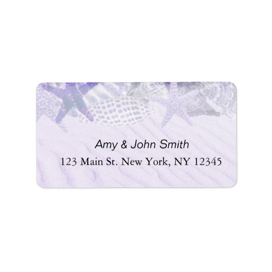 Personalized wedding address labels