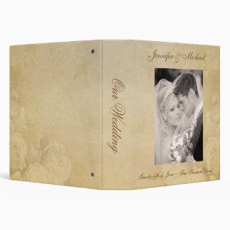 Personalized Wedding Album - Antique Roses Binder