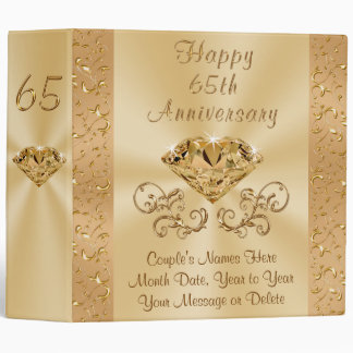 Personalized Wedding Anniversary Binder, Your Text Binder