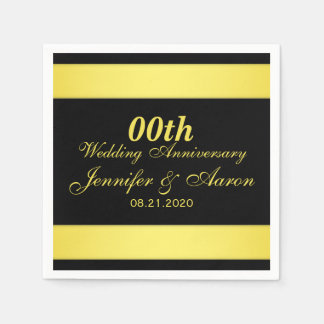 Personalized Wedding Anniversary Paper Napkin