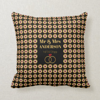 Personalized Wedding / Anniversary / Vow Renewal Throw Pillow
