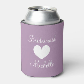 Personalized wedding can cooler for bridesmaids