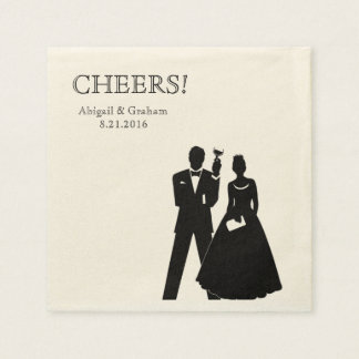 Personalized Wedding Cocktail Napkins Paper Napkins