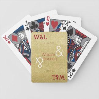personalized wedding couple names elegant poker deck
