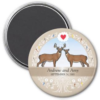 Personalized Wedding Date Anniversary, Buck & Doe Magnet