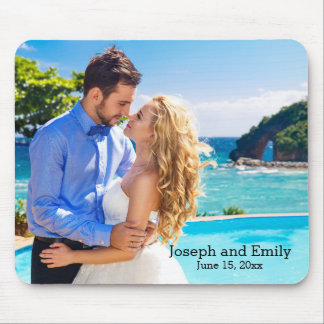 Personalized Wedding Day Photo Mousepad
