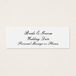 Personalized Wedding Favor Tag Template Mini Business Card
