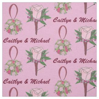 Personalized Wedding Flower Bride Groom Bouquet Fabric