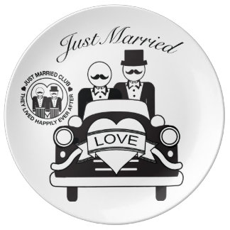 Personalized Wedding Gift Lgbt Ceramic Plate