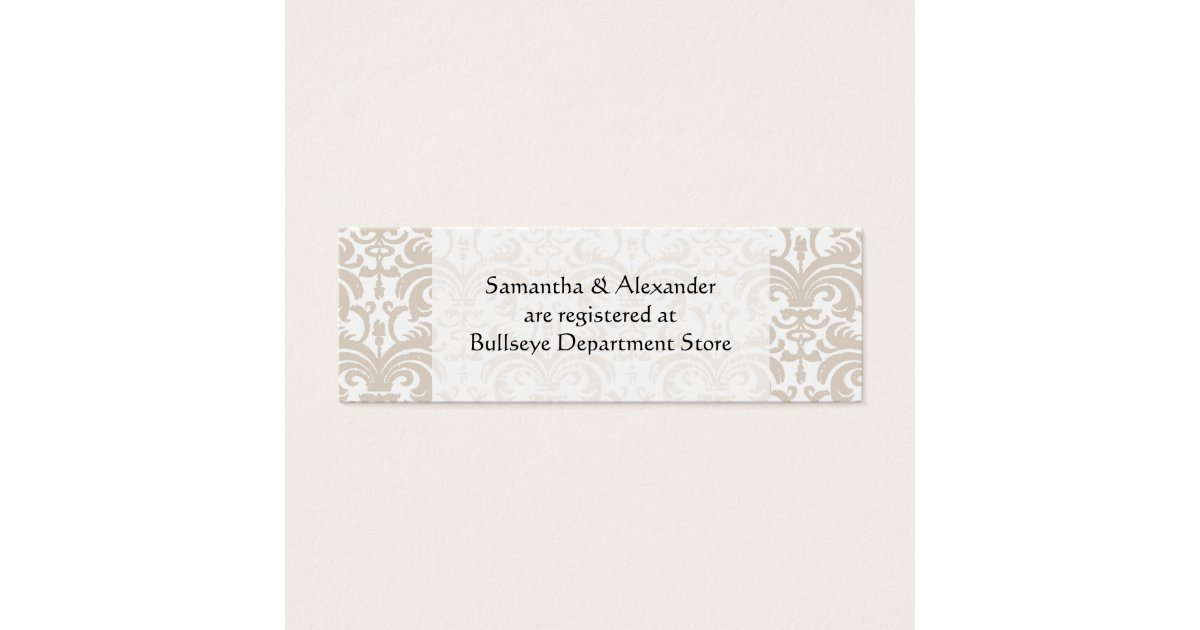 Boardmans Gift Registry Weddings: Personalized Wedding Gift Registry Cards Insert