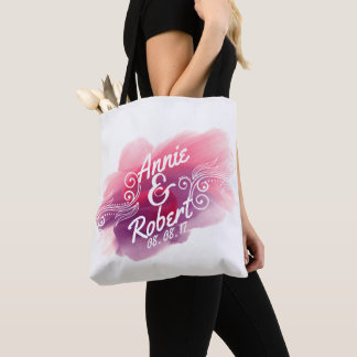 Personalized Wedding Gift Watercolor | Tote Bag