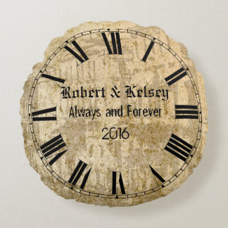 Personalized Wedding or Anniversary Round Pillow