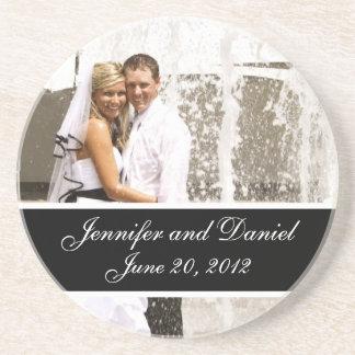 Personalized Wedding Photo Keepsake Coasters