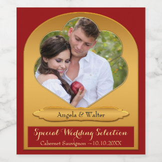 Personalized Wedding Photo Wine Label