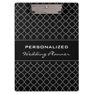 Personalized wedding planner clipboard | Elegant
