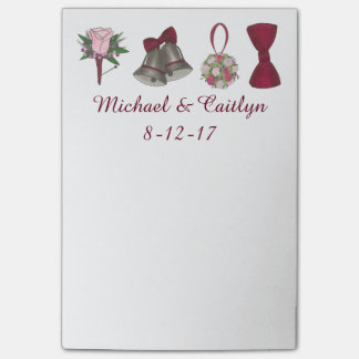 Personalized Wedding Shower Favor Post It Notes